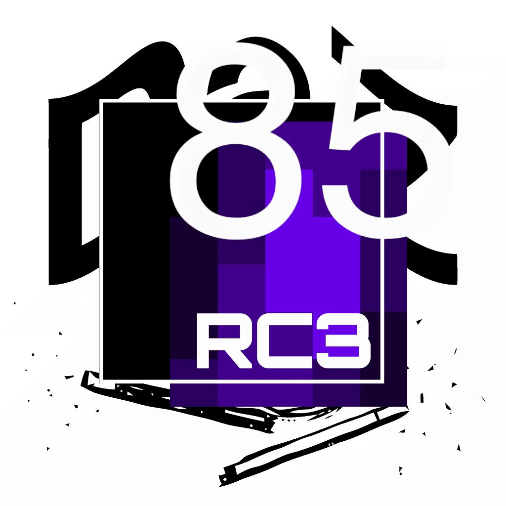RC3 und Das Logo mit der Zahl 85